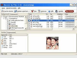 Einfachste Wiederherstellung von gelöschten Dateien.