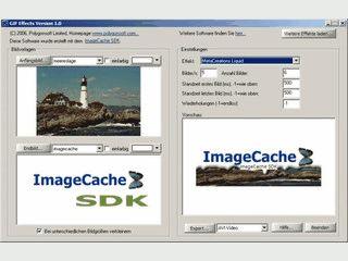 Erstellt Übergangseffekte zwischen zwei statischen GIF-Bildern.