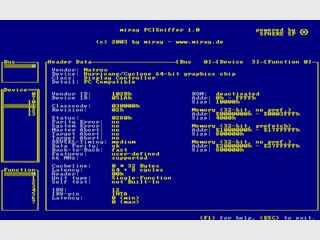 Schnelle PCI-Bus-Diagnose, Geräte- und Herstellernamen im Klartext