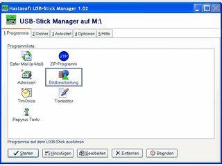 Schneller Start von Dokumenten und Anwendungen auf USB-Sticks.