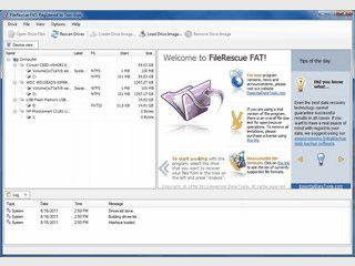 Datenwiederherstellung von gelöschten Dateien auf FAT-Laufwerken.