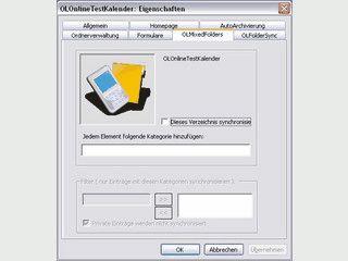 MS Outlook Unterordner selektiv mit anderen Geräten abgleichen.