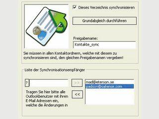 Synchronisierung von MS Outlook Kontakten via Email mit beliebig vielen Usern.
