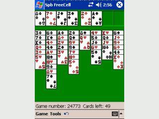 Spb FreeCell ist eine Umsetzung des bekannten Kartenspiels für den PDA.