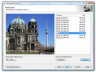 Speziell auf die Wiederherstellung von Multimediadateien ausgelegte Software.