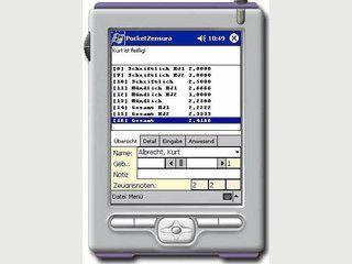 Notenverwaltung für Lehrer auf PDAs mit PocketPC.
