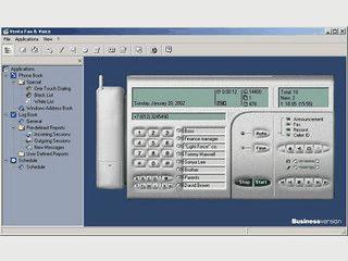 Anrufbeantworter und Computerfax für Computer mit Modem.