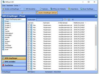 SMSout einfacher Versand von personalisierten Serien-SMS und Massen-SMS
