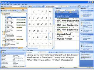 Fontmanager können Sie installierte und nicht installierte Schriftarten