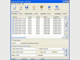Einfaches und schnelles Zusammenfügen von MP3-Dateien.
