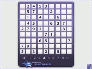 Der Denkspielklassiker Sudoku als Widget für das Mac OS X Dashboard.