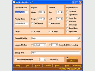 Tool zum Javascript für PopUp Fenster zu erstellen.
