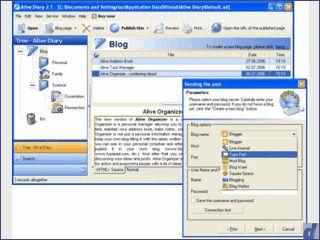 Software für ein Tagebuch mit Unterstützung zur Veröffentlichung in Blogs