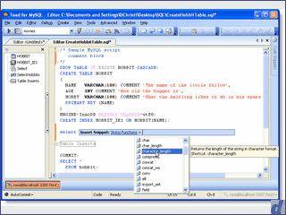 Editor für MySQL Programmierer und Administratoren.