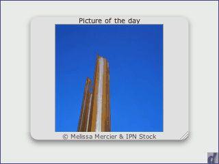 Widget, das jeden Tag das Bild des Tages von melissamercier.com anzeigt.