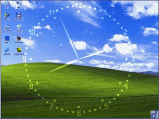 ShadowClock ist eine frei positionierbare Analoguhr für den Desktop.