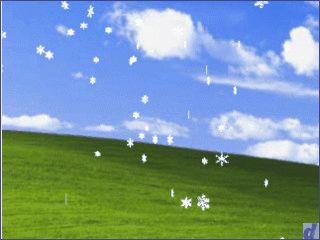 Ein einfacher Bildschirmschoner der es auf Ihrem Desktop schneien läßt.