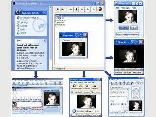 Das Tool simuliert eine Webcam mit einem beliebigen Video.