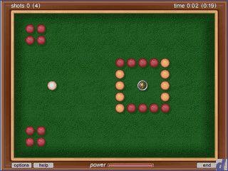 Das Spiel erinnert nur durch das Spielfeld und die Spielweise an Billiad.