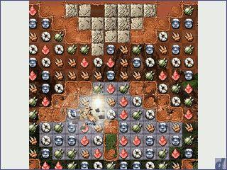 Denkspiel mit über 150 Level nach bewährtem Muster.