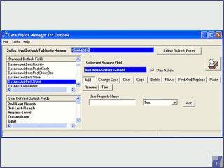 Bearbeiten, hinzufügen und löschen der MS Outlook Standard-Felder.
