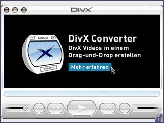Der offizielle DivX Player von DivX Labs für Mac OS X.