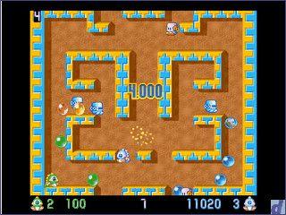 Der Arcade Klassiker Bubbles für ein bis zwei Spieler auf dem Mac.