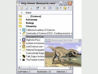 Verwaltung für Bookmarks, die Screenshots der Seiten erstellt und anzeigt.