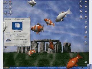 Aquarium Bildschirmschoner für den Mac mit sehr vielen verschiedenen Fischen.