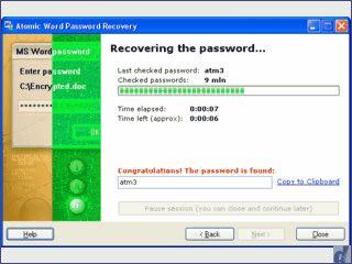 Passwortgeschützte MS Word Dateien sollen sich öffnen lassen.