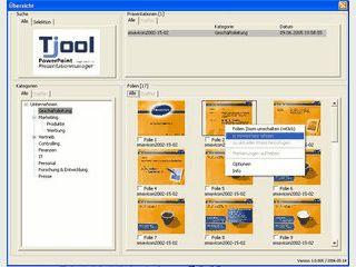 Verwaltung für MS PowerPoint Dateien und Folien inkl. Suchfunktion.