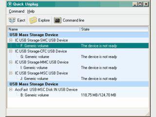 Sicheres Entfernen von USB-Geräten. Erkennung von neuen Geräten.