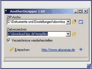 Einfaches Tool zum Komprimieren von Dateien als ZIP-Archiv.