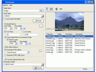 Stapelverarbeitung zum Erstellen von HTML-Gallerien und Thumbnails.