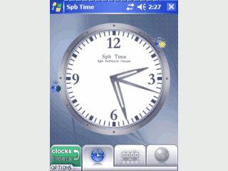 Analog- bzw. Digitaluhr mit Weltzeit, Zeitmesser und Stoppuhr.
