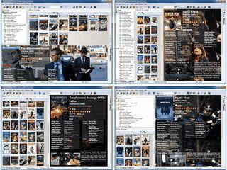 Gut gemachte Verwaltung für Videos, Laserdisks und DVDs mit Onlineabfrage.