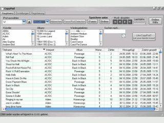 Verschiedene Tools für iPod Besitzer zur Datensicherung.
