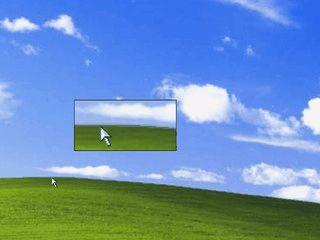 Desktop-Lupe mit variabler Lupengröße und wählbarem Zoom-Faktor.