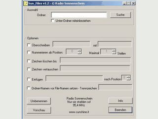 Einfaches Tool zum gleichzeitigen Umbenennen von Dateien.