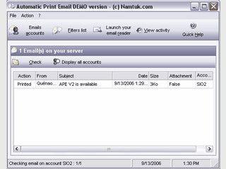 Automatischer Ausdruck von neuen Emails oder deren Anhänge.