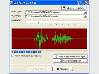 Einfaches Tool zum Umwandeln von WMA- in WAV-Dateien.