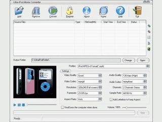 Konvertierung von beliebigen Videos in das iPod MP4/H264 Format.