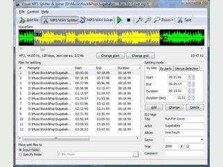 MP3 Dateien aufteilen und einzelne Dateien zu einer Dateie zusammenfügen.