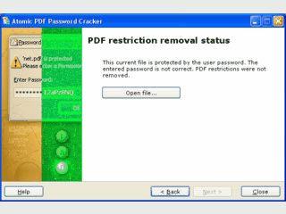 Beseitigt den Passwortschutz von geschützten PDF-Dateien.