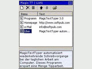 Per Drag'n Drop lassen sich Textbausteine in beliebige Anwendungen einfügen.