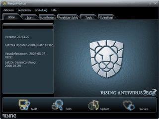 Antivirensoftware und Firewall.