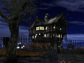 Düsterer Bildschirmschoner mit einer Halloween Horror-Kulisse.