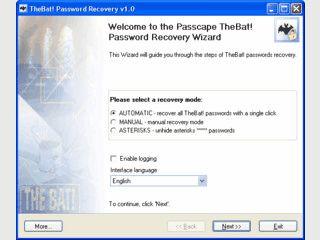 Wiederherstellung von verlorenen Passwörtern des Mailclient TheBat!