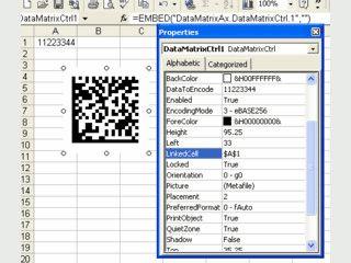 ActiveX mit dem sich 2D DataMatrix Barcodes verwenden lassen.