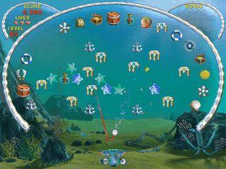 Ein Arkanoid Clone der unter Wasser spielt.